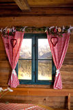 Window in a mountain lodge replica Royalty Free Stock Photos