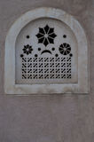 Window on mud house. Window decoration carving on mud house stock photography