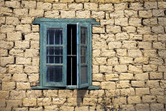 Window in mud wall Stock Photography