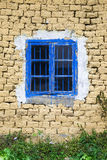 Window in mud wall Stock Image
