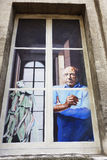 Window mural in Avignon, France Stock Photos