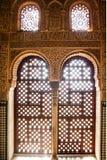 Window at Nazaries palace, Granada, Spain.  Stock Photos
