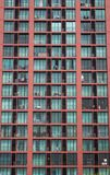 Window of new modern condominium. The facade of a building Royalty Free Stock Image
