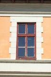Window. Nice vintage window on a orange wall Royalty Free Stock Photos