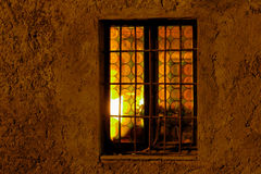 Window at night. Back lighted window at night Royalty Free Stock Image