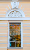 Window of Northern facade of Mikhailovsky palace, building of the State Russian museum in St Petersburg, Russia Royalty Free Stock Photography
