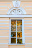 Window of Northern facade of Mikhailovsky palace - building of the State Russian museum in St Petersburg, Russia Stock Photos