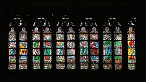 Window of Notre Dame Stock Images