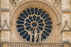 Window of Notre Dame de Paris kathedrale church royalty free stock photography
