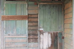 Window ofAbandoned wood house outside Royalty Free Stock Photography