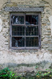 Window in old abandoned house with broken glass Royalty Free Stock Photos