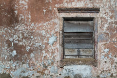 Window of an old abandoned house Royalty Free Stock Photo