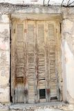 Window of an old apartment building in Loutraki. Stock Photo
