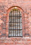 Window in an old brick church Royalty Free Stock Photos