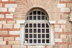 Window In An Old Brick Church Royalty Free Stock Image