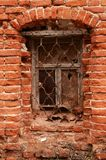 Window of the old brick house Stock Photos