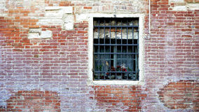 Window and old brick wall building Stock Image
