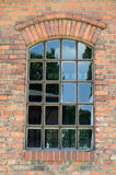 Window in an old brick wall Royalty Free Stock Photos