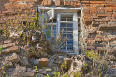 Window of Old Building. Window with grates of old building in Vinnitsia, Ukraine Stock Photo
