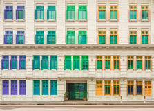 Window of old buildings on background Royalty Free Stock Images