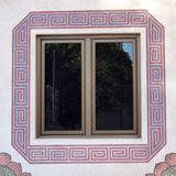 Window of old buildings Royalty Free Stock Photography