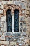 Window in old byzantine church in Corfu town Stock Image