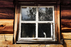 Window from a old cabin Stock Photo