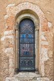 Window of the old Catholic church. In Bohemia Stock Images