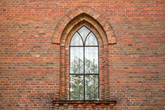 Window of the old church. Window of the old Catholic church stock photography