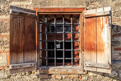 Window on old church wall Royalty Free Stock Image
