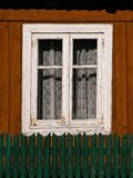 Window in an old country house. White window in an old country house Royalty Free Stock Image