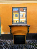 Window in old danish house Royalty Free Stock Image