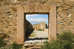 Window and old facilities Sagunto Castle, Spain Stock Image