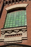 The window of old factory building. Stock Photography