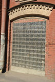 The window of old factory building. Stock Photos
