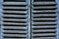Window. An old fashioned blue window doors Royalty Free Stock Photos