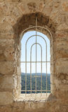 Window of an old fortress Stock Images