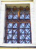 Window with old grids Royalty Free Stock Photos