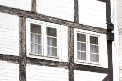 Window on an old half-timbered house, Germany Royalty Free Stock Images
