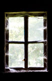 Window in an old house. Closeup Royalty Free Stock Photo