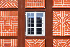 Window of old house. Window of old timber framing house, Germany Stock Image