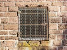 Window of an old house. With closed shutters Royalty Free Stock Photos
