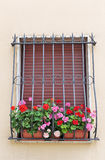 Window in an old house decorated Royalty Free Stock Images