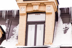 Window , old house, winter Stock Image