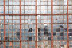 Window of the old industrial building Royalty Free Stock Photography