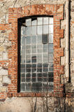 Window of old industrial building Stock Photo