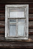 Window of the old log farmhouse Royalty Free Stock Photo