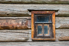 Window in the old log house Stock Photography