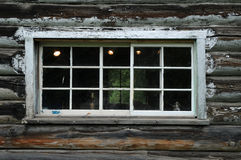 Window on a old log house Royalty Free Stock Photos