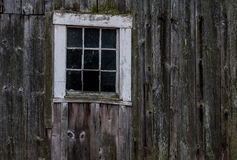 A window on an old New Hampshire barn Royalty Free Stock Photography